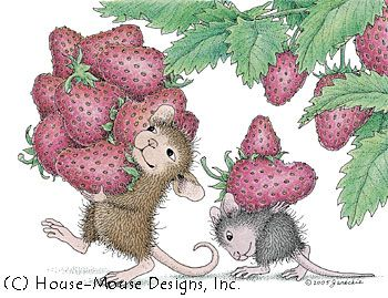 """Berried"" from House-Mouse Designs®. This image was recently purchased on a rubber stamp. Click on the image to see it on a bunch of other really ""Mice"" products."