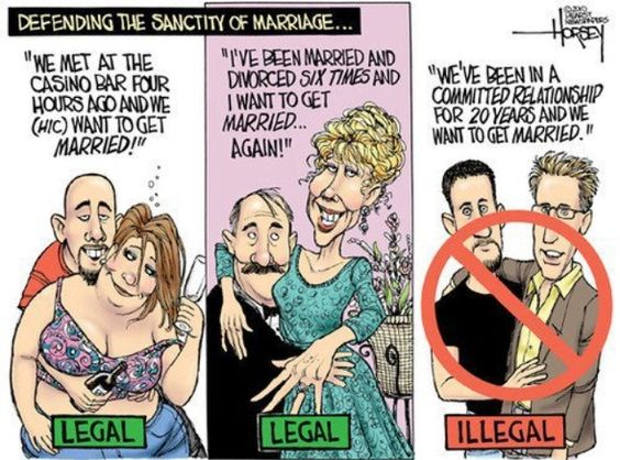 Gay people are a threat to the sanctity of marriage?