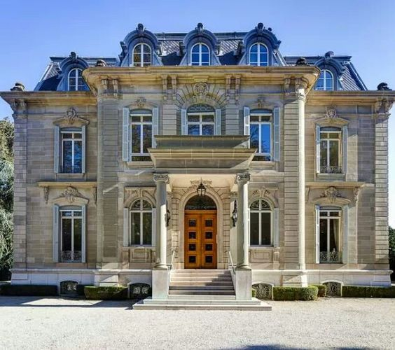 French exterior dream homes and mansions on pinterest for Luxury home exteriors