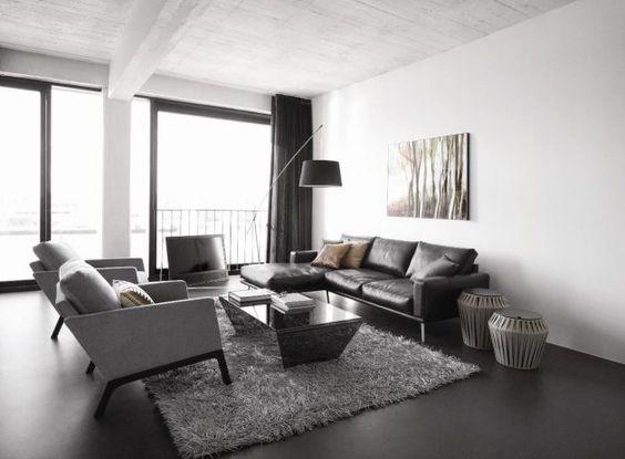 moderne wohnideen von boconcept in schwarz/weiß