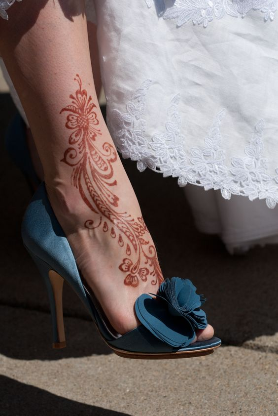 Mehndi Ankle : Best images about henna ankle wedding summer looks