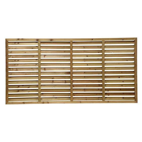 Timber ACQ Treated Pine Horizontal Louvre Screen 180cm - Masters Home Improvement