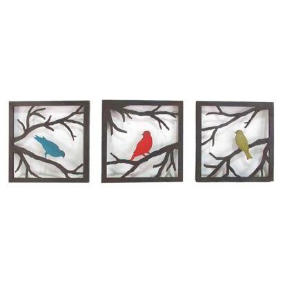 Birds on Branch 3 Piece - Bold