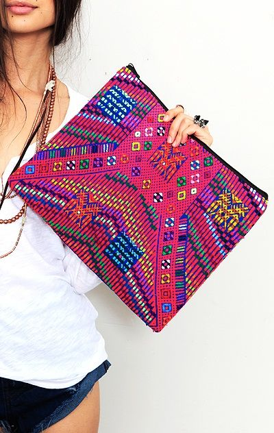 Handmade clutch from Guatemala by Planet Blue.