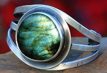 Labradorite gemstone on sterling silver oxidized cuff bracelet - http://www.gemstonejewelrybydanielle.com/products/labradorite-sterling-silver-bracelet.html https://www.facebook.com/gemstonejewelrybydanielle https://www.etsy.com/shop/DanielleHRossJewelry
