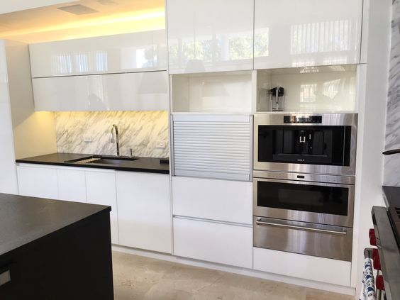 Combine Rauvisio Crystal And Tambour Doors For This Beautiful
