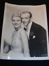 Vintage MOVIE STAR PHOTOGRAPH - Fred Astaire, Ginger Rogers, c1940s Photo 8x10""