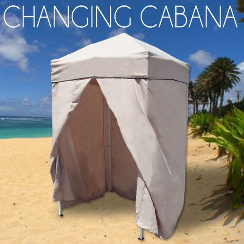 Portable Cabana Stripe Changing Room Privacy Tent Pool C&ing Outdoor EZ Pop Up | Cabana Tents and C&ing & Portable Cabana Stripe Changing Room Privacy Tent Pool Camping ...