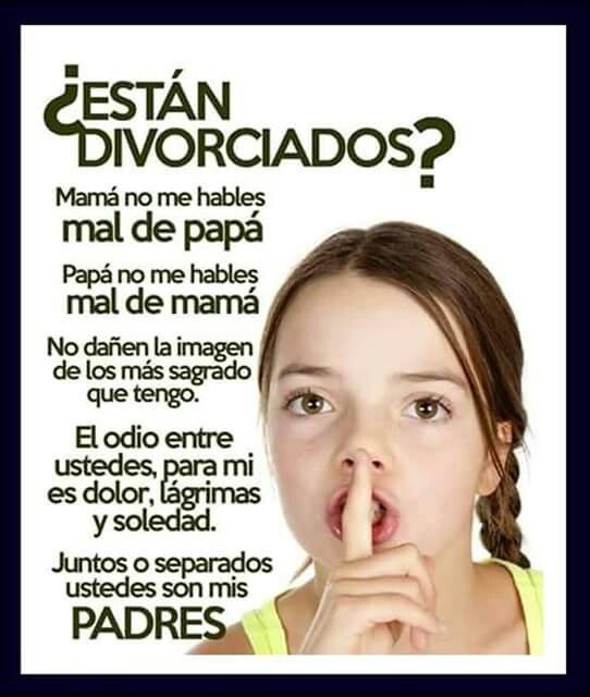 Por qur el daño se le hace a los hijos, no a las ex parejas.... Piénsalo: