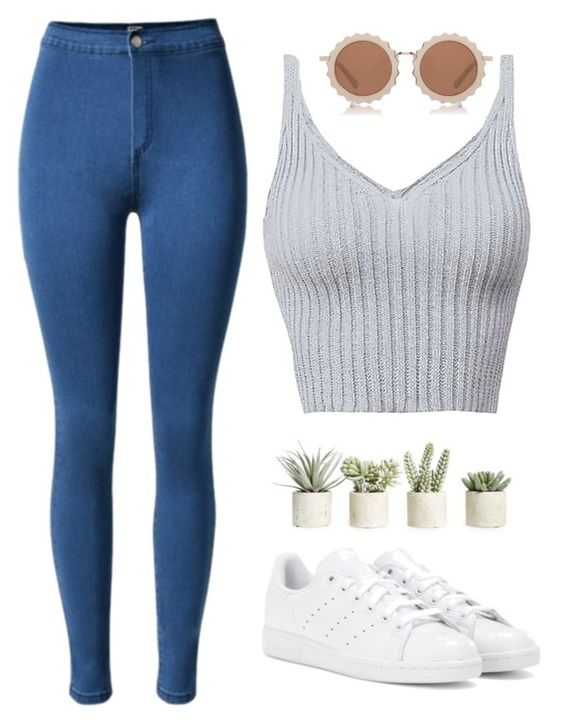 """""""Freely"""" by laurateplo ❤ liked on Polyvore featuring adidas, Allstate Floral and House of Holland"""