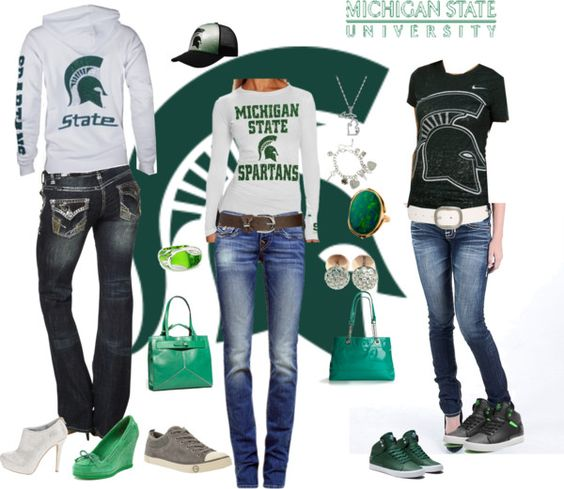 """MSU"" by samantha-edlin on Polyvore"