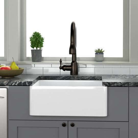 24 Sunnyvale Fireclay Single Bowl Farmhouse Sink Farmhouse Sink Cottage Kitchen Design Replacing Kitchen Sink