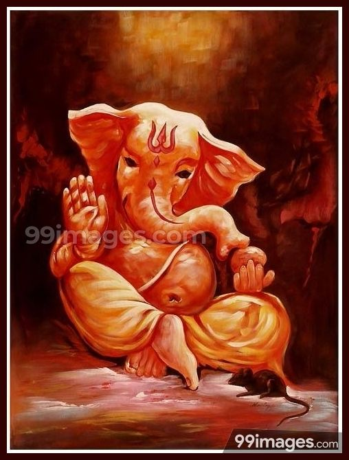 Pin By Bajojisreenivas On Apple Wallpaper Iphone Ganesha Painting Ganesha Art Lord Ganesha Paintings
