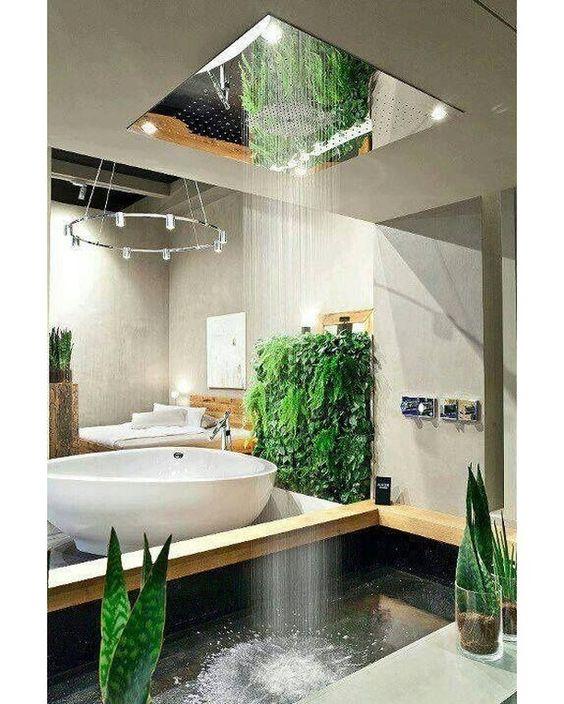 "@homeadore: ""Bathroom with rain shower #bathroom #luxury #interior #interiors #interiordesign #design #architecture"""