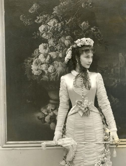 Vivien Leigh photographed during the filming of Anna Karenina by Cecil Beaton, 1947.