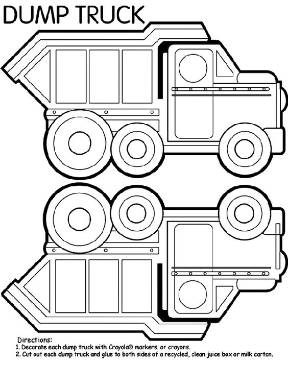 cardinal coloring pages preschool truck - photo#39