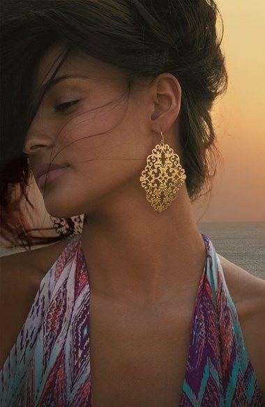 Argento Vivo 'Artisanal Lace' Diamond Shape Earrings (Nordstrom Exclusive) | Nordstrom
