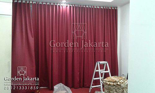 Model Gorden Terbaru Minimalis Merah Maroon Di Tebet Minimalis