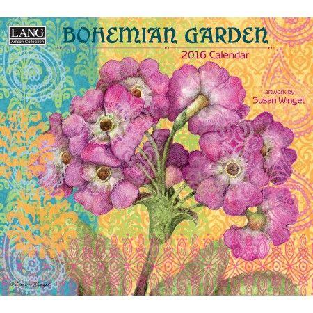 Bohemian garden 2016 wall calendar 2016 wall calendars for Gardening 2016 calendar