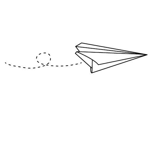 Stamp Paper Plane / Stempel Papieren vliegtuigje - € 9,95