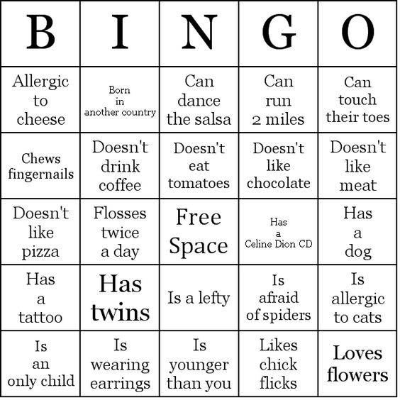 reception ice breaker people bingo card sample wedding stuff pinterest first day of. Black Bedroom Furniture Sets. Home Design Ideas