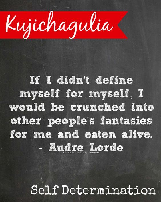 #Kwanzaa Kujichagulia means self determination