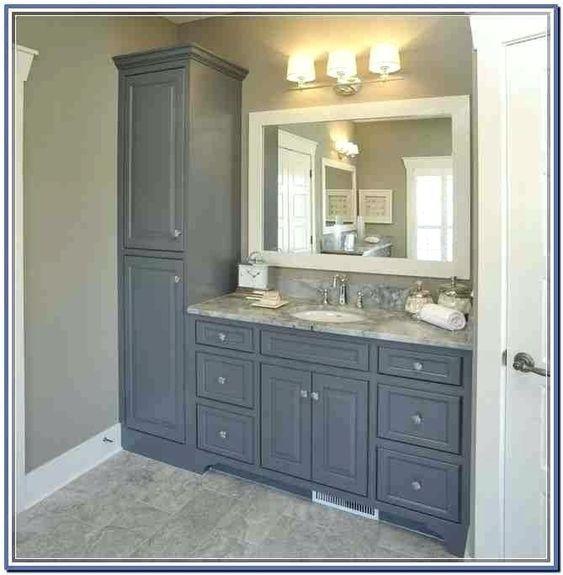 47 Cool Small Master Bathroom Renovation Ideas In 2020 Bathroom Vanity Storage Bathroom Remodel Master Farmhouse Master Bathroom