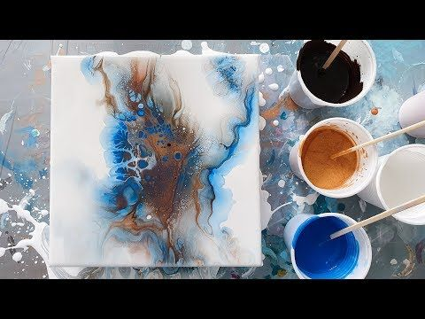 Best Dutch Pour Cloudy Effect Acrylic Pour With Blowdryer