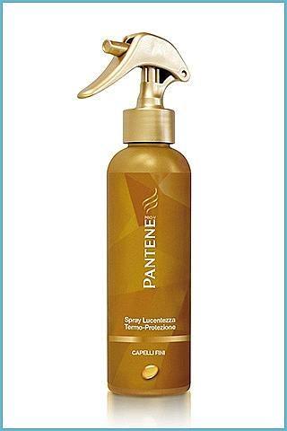 Capelli in forma  --- Stop al calore...  Dedicato ai capelli sottili, Spray Lucentezza Termo-Protezione di Pantene per difendere la capigliatura dalle aggressioni del calore. Per prevenire secchezza e disidratazione. Come trattamento protettivo, si vaporizza in modo uniforme e si passa poi alla consueta asciugatura con il phon, o a colpi di styling, con piastra e arricciacapelli (6, 99 euro).  Beauty tips: per non appesantire i capelli fini, non utilizzate prodotti dalle texture oleose.
