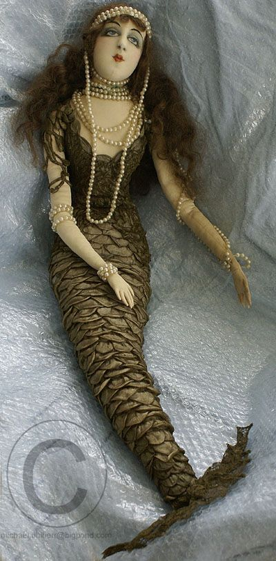 mermaid boudoir doll,,,,wonderful detail...I WANT HER or a similar repro. She is divine!!!!