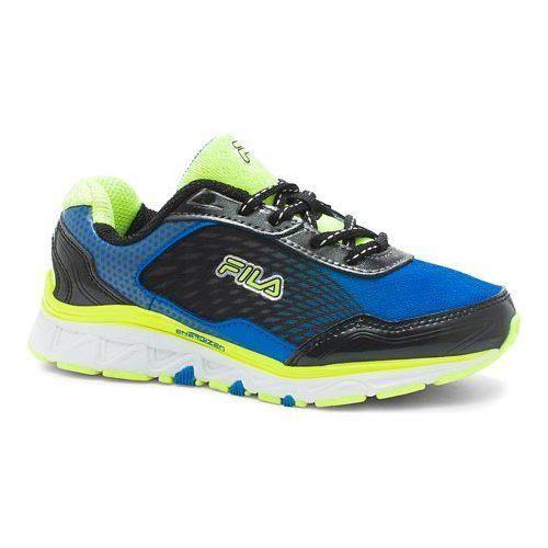 Boys' Fila Energistic Running Shoe Electric Blue Lemonade/Safety /Black