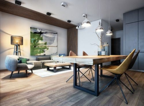 homedesigning via 2 Luxury Apartment Designs For Young Couples
