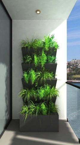 Vertical balcony garden diy pinterest gardens for Balcony vertical garden