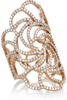 Ileana Makri - Lace 18-karat rose gold diamond ring: for a mere £8,070...