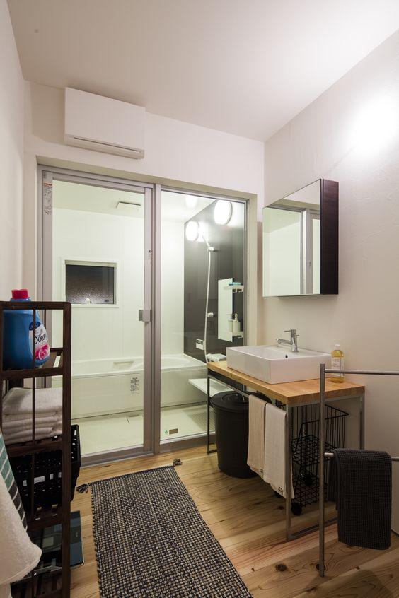 かっこいい浴室でリラックス 洗面台 マイホーム 洗面所