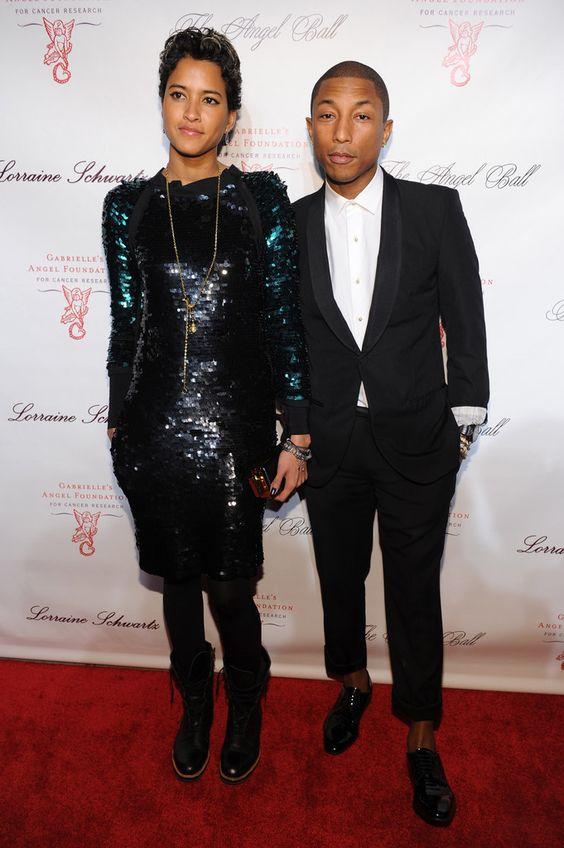 Pharrell-Williams-Helen-Lasicha: Carpetstyle 12, Style Icons, Pharrell Wife, Red Carpetstyle, Wife Helen S, Helen S Dress, Pharrell Williams