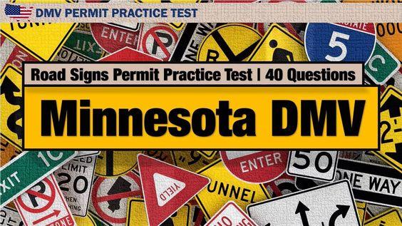 Minnesota DMV Road Signs Permit Practice Test