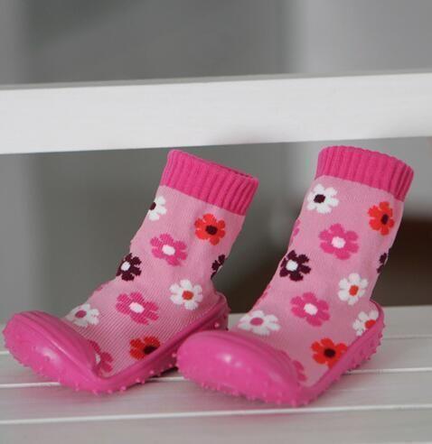 kidadndy Baby Socks Soft Bottom Non-Slip Floor Rubber Soles Kids Boots Toddler