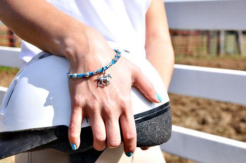 Horse Charm Suede Bracelet, $10.00
