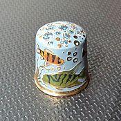 """Collectible thimble handmade """"Fish"""""""