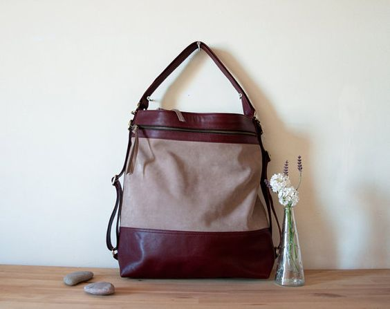 Tote purse, Backpack purse and Leather backpacks on Pinterest
