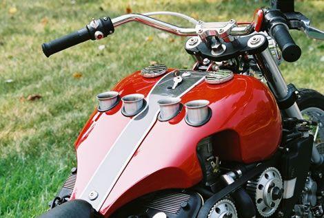 Alfa Romeo V6 powered custom bike