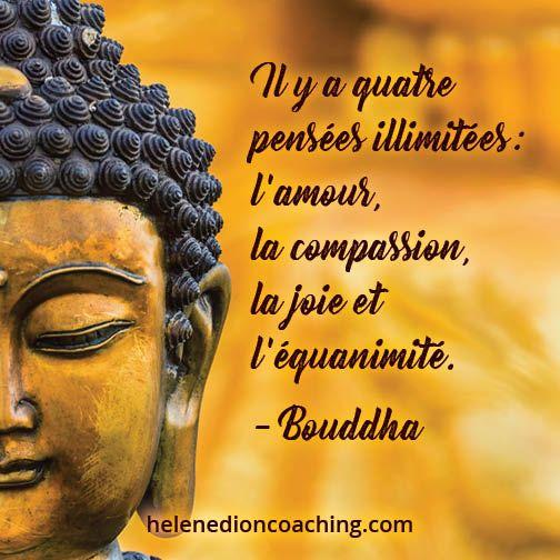Il Y A Quatre Pensées Illimitées L Amour La Compassion La