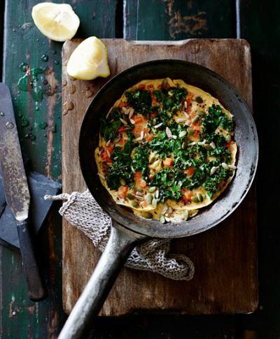 Receitas Culinárias Fáceis... Omelete com couve