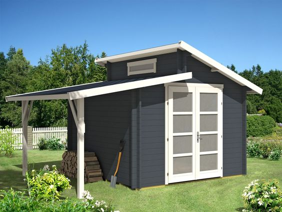 Gartenhaus Aktiva-28 mit Schleppdach