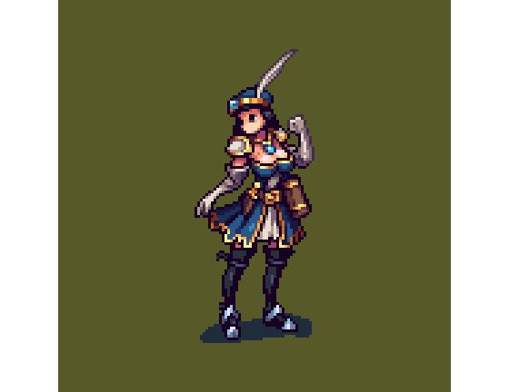 """Mou-Chan no Twitter: """"Siren #pixelart I designed for @NibblesDragon's new tactical game #gamedev #indiedev https://t.co/CCq4sm6xCH"""" ."""