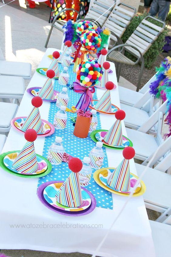 Trop belle déco table - Anniversaire cirque et clown