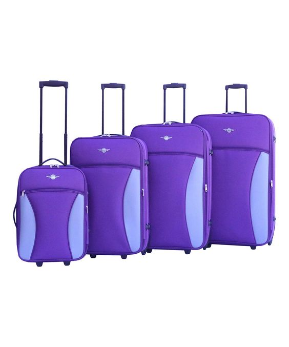 Look what I found on #zulily! RivoLite Purple Expandable Four-Piece Luggage Set by RivoLite #zulilyfinds