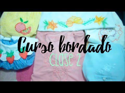 CURSO BORDADO CON MAQUINA DE COSER.   CLASE 2. – Cursos y Patrones de Costura                                                                                                                                                      Más