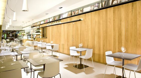 Cuina Miracle Vinoteca is a project in Sant Just Desvern (Barcelona) by Qubba Arquitectes. Our Lottus are the perfect allies for its serene atmosphere and the need for resistant, practical and good designed chairs, by Lievore Altherr Molina. #EneaDesign #SantJustDesvern #Barcelona #restaurants #LievoreAltherrMolina #Lottus #chairs  http://www.eneadesign.com/en/projects/restaurante-cuina-miracle-vinoteca-barcelona/